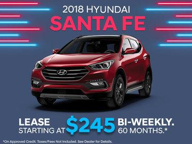 Lease the 2018 Santa Fe Sport