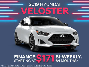 It's Back.. Get the 2019 Veloster.