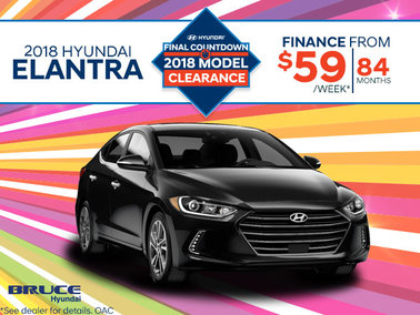 Finance the 2018 Elantra