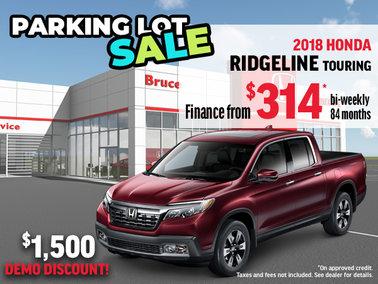 Parking Lot Sale - 2018 Honda Ridgeline Touring