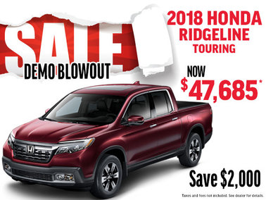 DEMO CLEAROUT 2018 Honda Ridgeline Touring