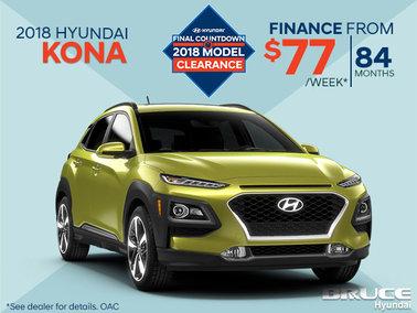 Finance the 2018 Hyundai Kona