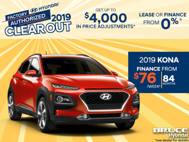 Finance the 2019 Hyundai Kona