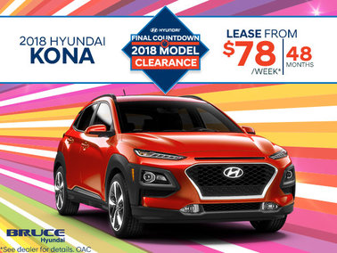Lease the 2018 Hyundai Kona