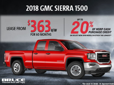 Lease the 2018 Sierra 1500