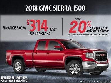 Finance the 2018 Sierra 1500 SLE