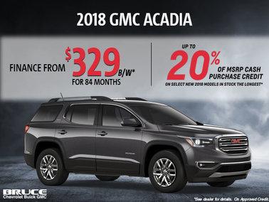 Finance the 2018 GMC Acadia