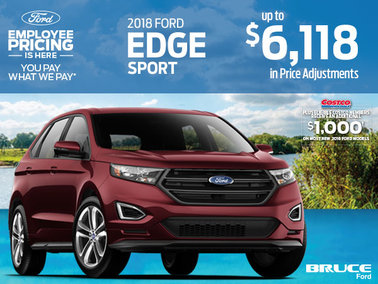 Save up to $6,118 on the 2018 Ford Edge Sport