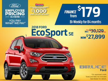 Save up to $2,230 on the 2018 Ford EcoSport SE 4WD