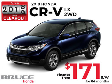 Finance the Honda CR-V LX 2WD for $171 Bi-Weekly