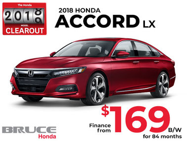 Finance the 2018 Honda Accord LX for $169 Bi-Weekly