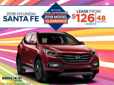 Lease the 2018 Santa Fe