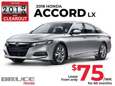Lease the 2018 Honda Accord LX for Only $75 Weekly