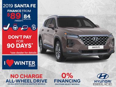 Finance the all-new 2019 Santa Fe