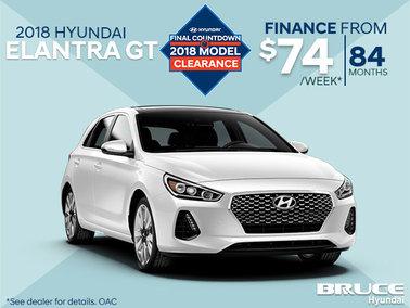 Finance the 2018 Hyundai Elantra GT