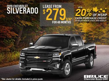 Lease the 2019 Chevy Silverado
