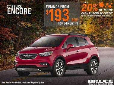 Finance the 2018 Buick Encore