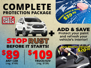 Combine Rust Check with Spa Services and Save!