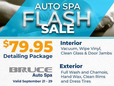 Flash Sale! $79.95 Detailing Package
