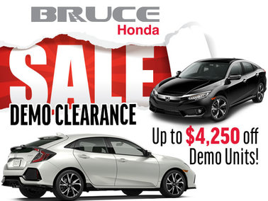 New Price Reductions on all 2017 Demos! Save up to $4,250 on a New Honda
