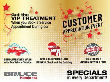Customer Appreciation Service Specials