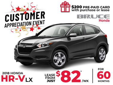 Lease the 2018 Honda HR-V LX for $82 Weekly (Copy)
