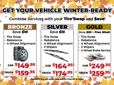 Fall Tire Swap Packages