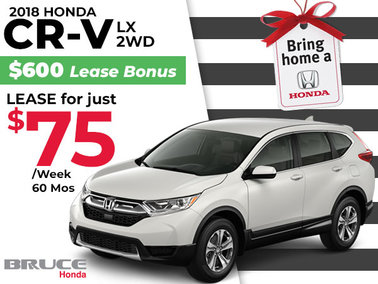 Lease the Honda CR-V LX 2WD for Just $75 Weekly
