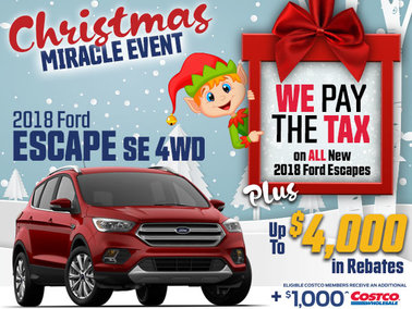 SAVE THE TAX on all New In-Stock 2018 Escapes