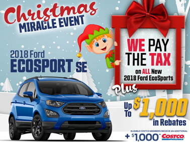 SAVE THE TAX on all New In-Stock 2018 EcoSports