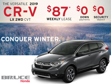 Lease the 2019 Honda CR-V LX 2WD for JUST $87 Weekly