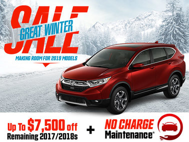 Save up to $7,500 on Remaining 2017 and 2018 Models + Get Free Maintenance