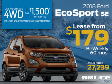 Lease the 2018 EcoSport and Get No-Charge AWD
