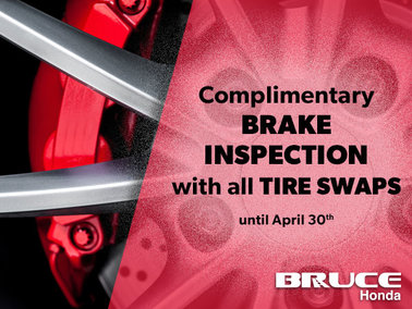 Book Your Tire Swap Now for a Complimentary Brake Inspection