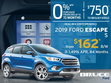 Finance the 2019 Ford Escape S
