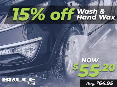 15% Off Wash & Hand Wax all June