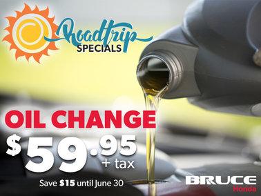 Roadtrip Oil Change Special