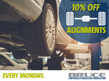 Every Monday: 10% Off Alignments