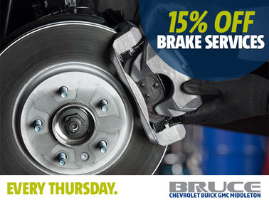 Every Thursday: 15% off Brake Services