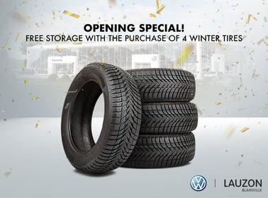 Opening Offer - Summer Tire Storage