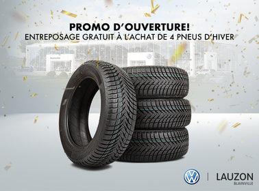Promo d'ouverture - Entreposage des pneus d'été