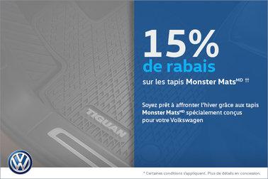 15% de rabais sur les Monster Mats