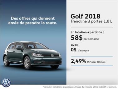 Louez la Golf 3 portes 2018!