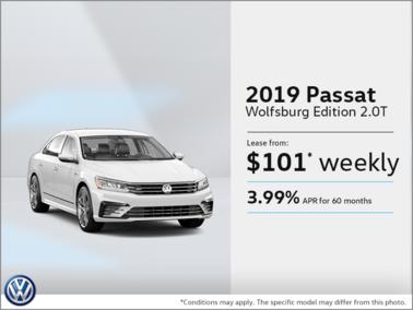 Lease the 2019 Passat!