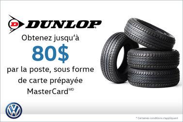 Offre sur les pneus Dunlop