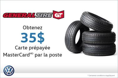 Offre sur les pneus General Tire