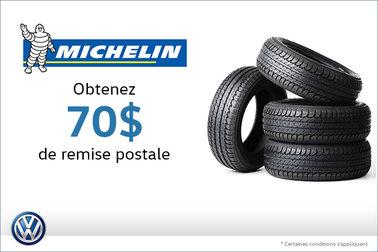 Offre sur les pneus Michelin