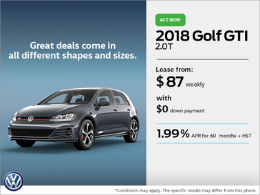 Get the 2018 Golf GTI Today