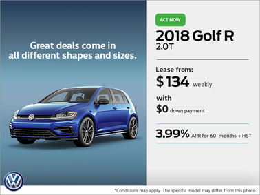 Get the 2018 Golf R Today
