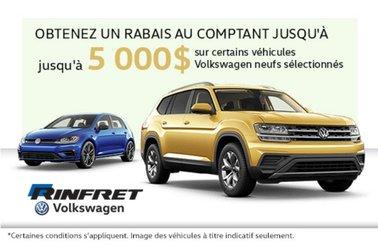 Jusqu'à 5000$ de RABAIS - Rinfret Volkswagen